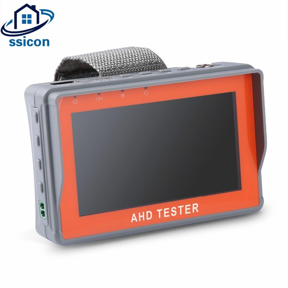 SSICON 4.3 Inch HD AHD CCTV Tester Monitor AHD 1080P Analog Camera Testing PTZ UTP Cable Tester DC12V 2ASSICON 4.3 Inch HD AHD CCTV Tester Monitor AHD 1080P Analog Camera Testing PTZ UTP Cable Tester DC12V 2A