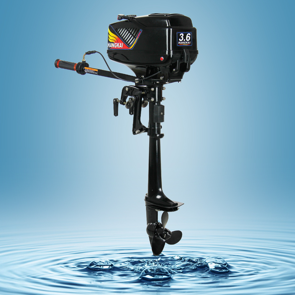 New promotion hangkai 3 6hp 2 stroke fishing boat engines for New outboard boat motors