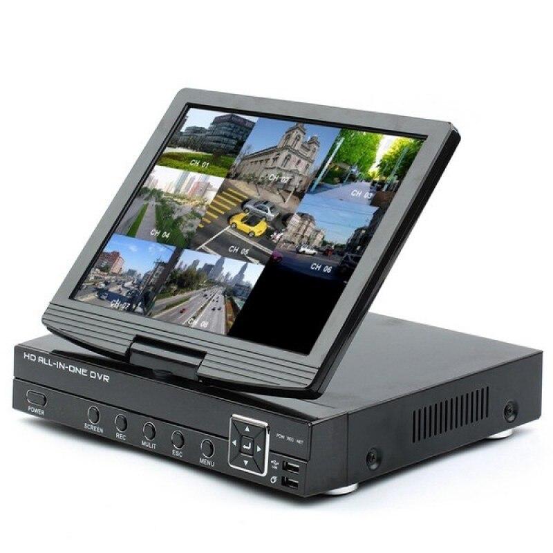 Enregistreur vidéo numérique analogique AHD 4ch 3-en-1 (DVR) et enregistreur vidéo réseau ONVIF IP 720 P (NVR) avec écran LCD TFT 10.1 pouces