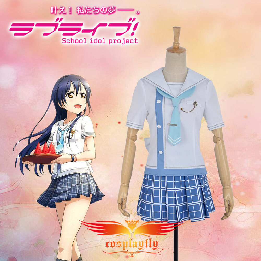 Love Live! Umi Sonoda Navy Unawakened Uniform Cosplay Costume Custom Made Outfit Clothing For Adult W0745