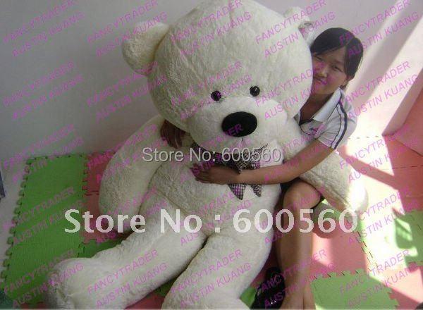 White Color JUMBO 63'' / 160cm Giant Stuffed Teddy Bear Plush Bear Free Shipping FT90059 fancytrader light brown jumbo 63 giant stuffed teddy bear free shipping ft90059