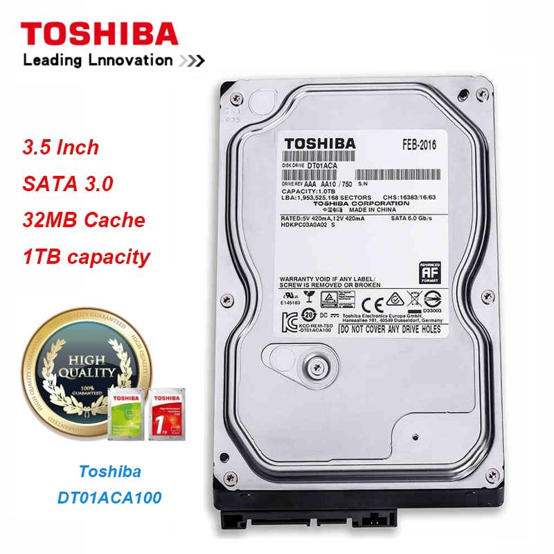 Original Toshiba 1T Hard Drive Disk DT01ACA100 SATA/300 7200RPM 32MB Cache 3.5 Internal Hard Drive for Desktop PCOriginal Toshiba 1T Hard Drive Disk DT01ACA100 SATA/300 7200RPM 32MB Cache 3.5 Internal Hard Drive for Desktop PC