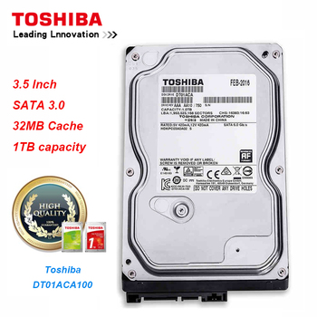 "Original Toshiba 1T Hard Drive Disk DT01ACA100 SATA/300 7200RPM 32MB Cache 3.5"" Internal Hard Drive for Desktop PC"