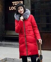 2017 Cotton Wadded Jacket Women Parka Warm Winter Coat Women Padded Fur Collar Hoodedcoat Plus Size 3XL