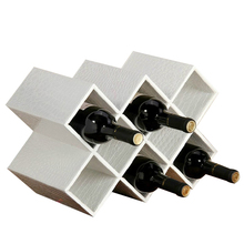 Leather quality fashion wine rack tantalus cooler decoration plaid