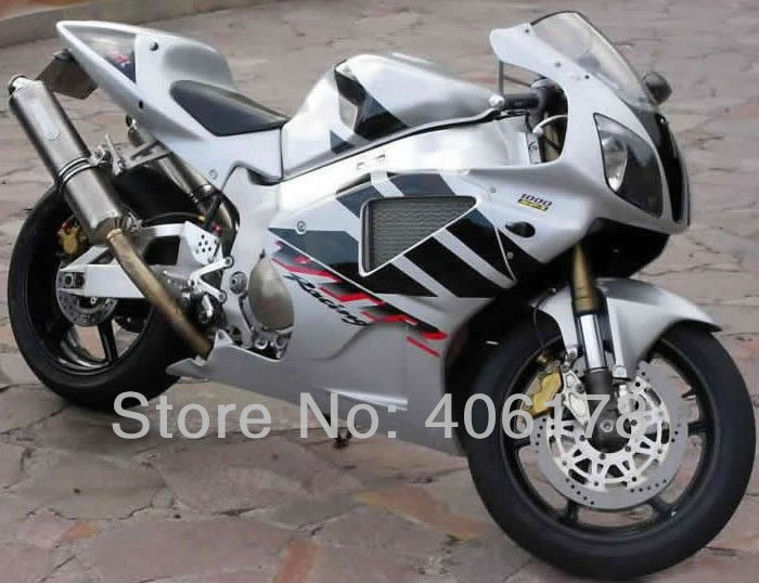 Hot Sales,Factory Outlet RC51 fairing kit For Honda Rc 51 RVT1000RR SP1 SP2 2000 2006 Silver & Black Bikes Motorcycle Fairings