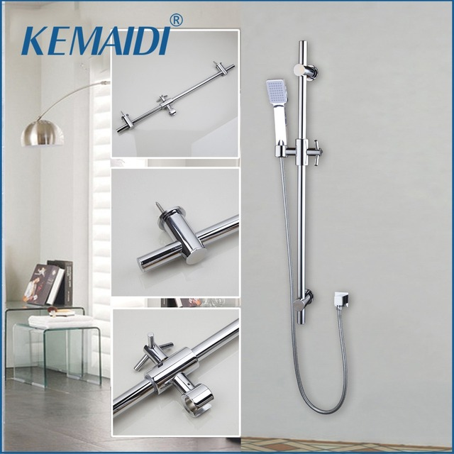 Kemaidi Bathroom Shower Faucet Chrome Finished Head With Handheld Spray
