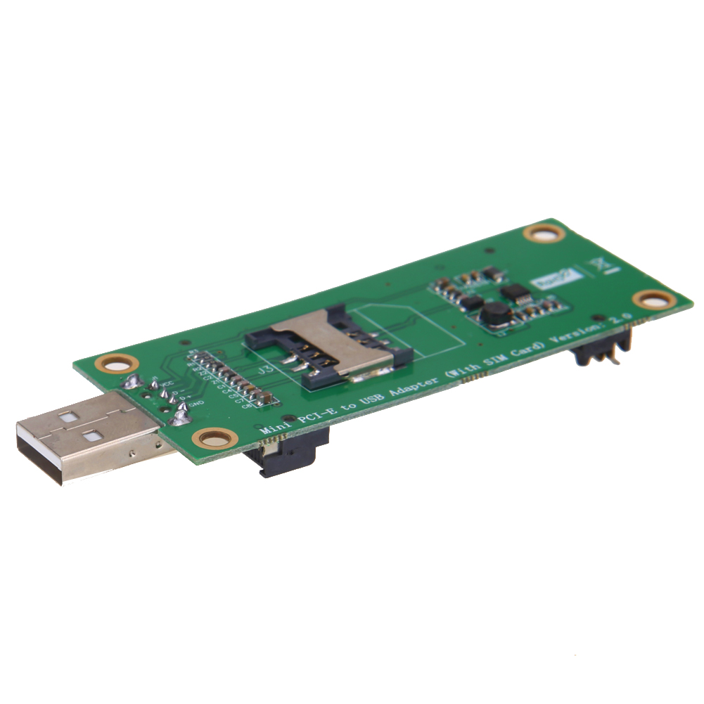 Mini PCI-E to USB Port 52PIN with SIM Slot for Wireless Module Network Card for 3G module flash test for Huawei/ZTE/AIRCARD