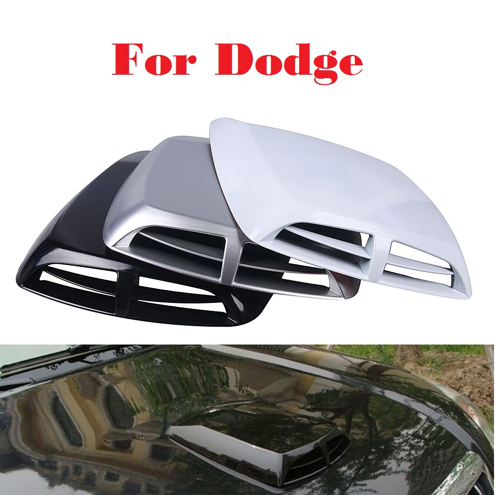 2017 Air Flow Intake Hood Scoop Vent Bonnet Cover Car Stickers For Dodge Avenger Caliber Challenger Charger Dart Durango new 2x car decorative air flow intake scoop turbo bonnet vent cover hood for fender