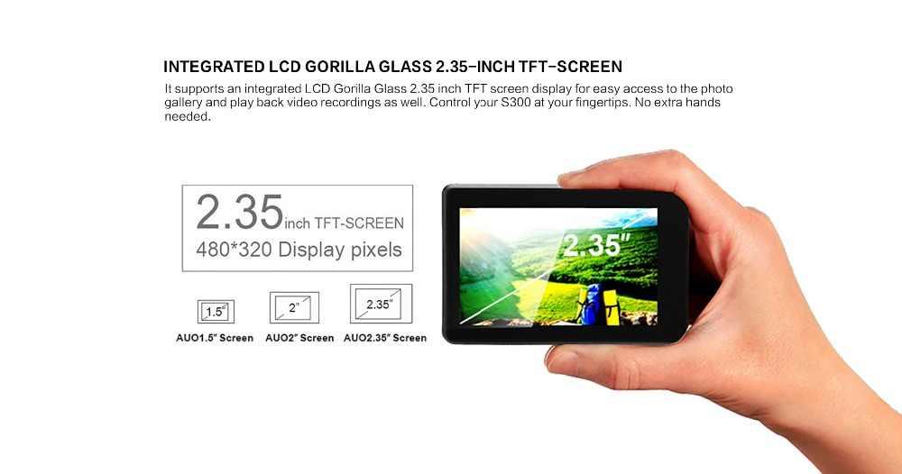 """Оригинальный soocoo S300 спортивные Камера экшн-камера со сверхвысоким разрешением Ultra HD, 1080 P 4 K 30fps Hi3559V100 IMX377 с поддержкой Wi-Fi Голос Управление 2,35 """"сенсорный экран ЖК-дисплей"""