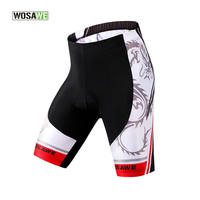 Wosawe Cycling Shorts 3D Pad Spandex Mtb Shorts Mountain Bike Shorts Black White Men S Outdoor
