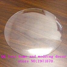 1.5mm de espesor de Vidrio Blando Transparencia PVC Mantel Redondo Impermeable Partido Inicio Cocina Comedor Mantel Pad Diámetro 90/100 cm