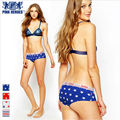Pink hero Hot Brand Print 100%Cotton Women Briefs Girl Panties Stars Stripe England Slimming Lady Sex Couple Underwears 60179