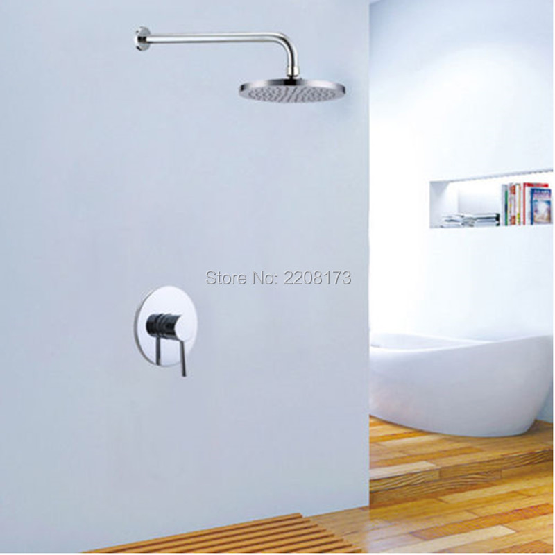 2017 Hot Sale Luxury Good Quality Bathroom In Wall Concealed 8 Rain Shower Mixer Tap Rain Shower Head Set hot sale good quality inductive