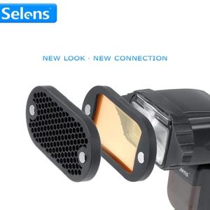Image 2 - Selens, filtres de couleur, grilles en nid dabeille, sphère lumineuse, rebond, modificateur déclairage à poignée, avec magnétique pour le Kit daccessoires à Flash, 7