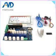 Клон новейший дуэт 2 Wifi V1.04 DuetWifi Advanced 32 бит электроника с 5 ''5 дюймов PanelDue 5i интегрированный Paneldue сенсорный экран