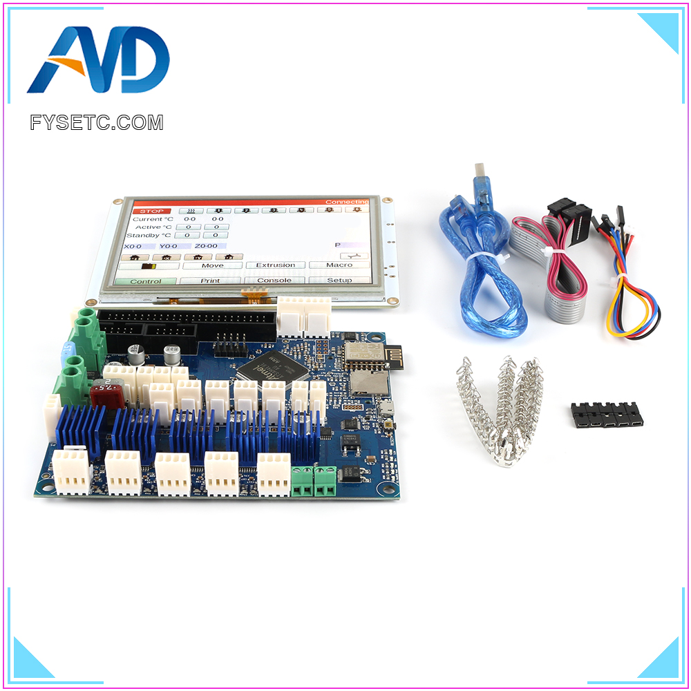 Image 2 - Clone Duet 2 Wifi V1.04 DuetWifi Advanced 32 Bit Electronics With 5 5i Integrated Paneldue Touch Screen For BLV MGN Cube-in 3D Printer Parts & Accessories from Computer & Office