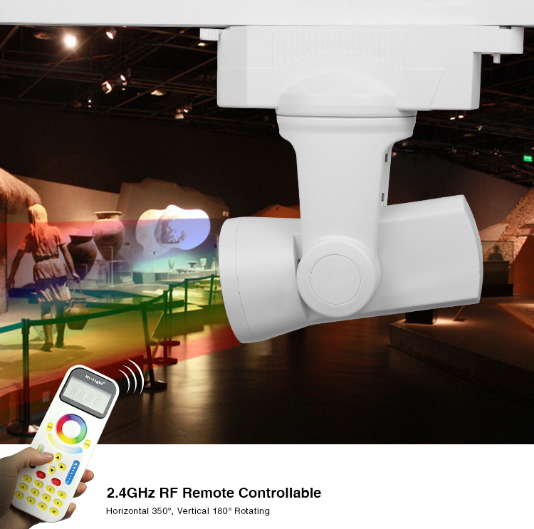 24g mi light rf wifi connect 25w 2 wire rgbw led auto track light 24g mi light rf wifi connect 25w 2 wire rgbw led auto track light for ktv bar galleries shopping mall ac110v 120v 220v 230v in track lighting from mozeypictures Gallery