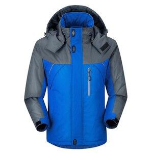 Image 5 - Jacket Men Winter Thick Fleece Waterproof Outwear Military Jackets Plus size 5XL Mens Windbreaker Army Parka Raincoat  Coats