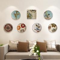 Creativo moderno mural de cerámica placa colgante decoración de la pared artesanía decoración personalidad pintado a mano placas colgantes