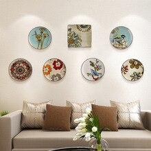 Современный творческий керамической росписи висит табличка украшения стены ремесла Мебель личность ручная роспись висит пластины
