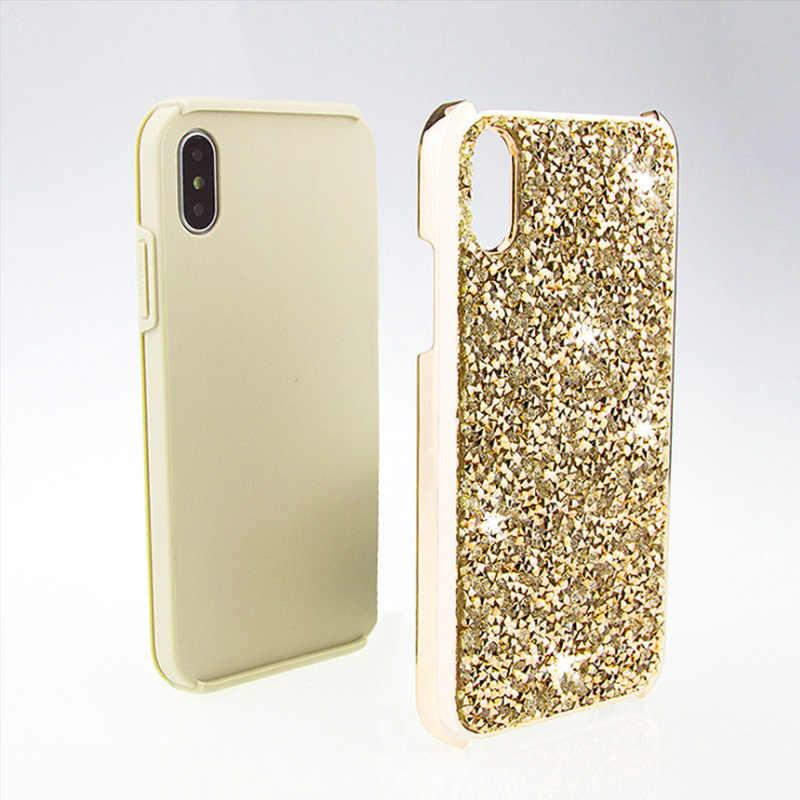 Coque de téléphone de luxe Bling paillettes cristal diamant pour iphone 7 étui pour iphone 6 6 s 7 8 Plus X étui rigide pour iphone X
