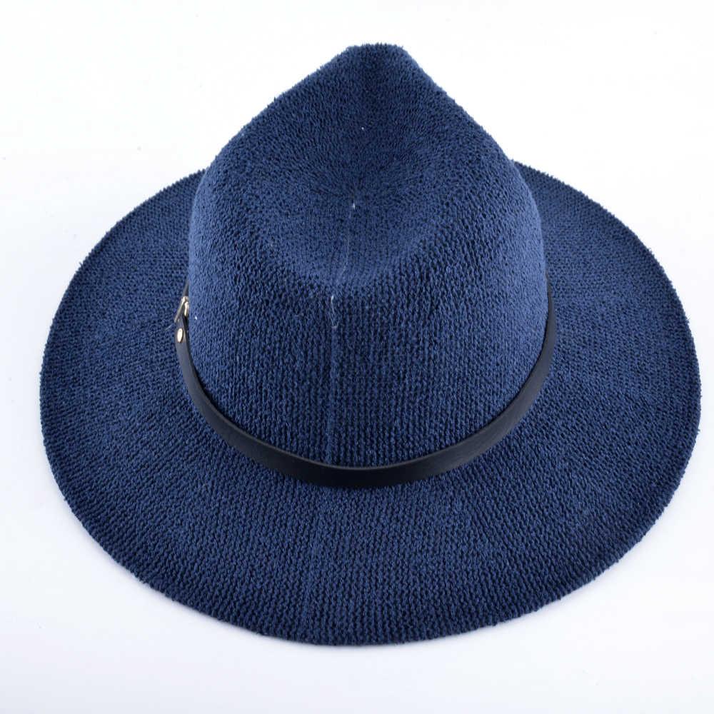 夏帽子 Pille Feminino パナマわら帽子と女性のためのリボン通気性ユニセックスワイドつばビーチキャップ Chapeu