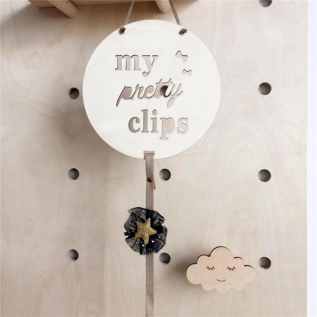 Cloud Raindrop Star Nordic Wooden Wall Hanging Kids Room Decor Ornaments #3