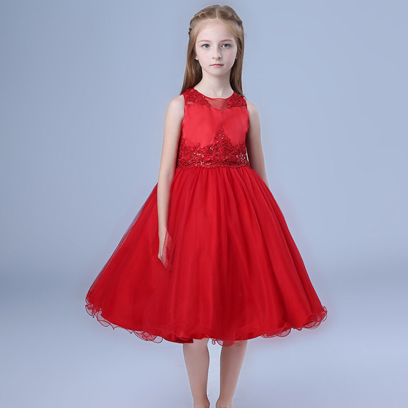 Summer girls dress kids Lace wedding dress child sleeveless Princess Party Dress embroidery Kids Ball Gowns lace clothng adrianna papell women s sleeveless lace popover dress