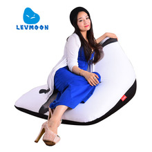 LEVMOON Beanbag Sofa Chair Donkey Seat zac Shell Comfort Bean Bag Bed Cover Without Filler Cotton Indoor Beanbag Lounge Chair