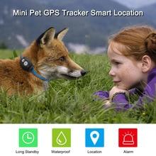 Водонепроницаемый мини GPS ошейник-трекер локатор для детей Дети Домашние животные Товары для кошек животных автомобиля бесплатное приложение для IOS/Android веб-отслеживания