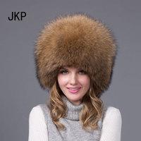 JKP 2018 New Genuine Women winter warm real fox fur hat russian fur aviator skihats fashion adult Bomber Hats HJL 01