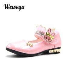 7bad702f7c Weweya Top Da Moda Sapatos de Couro Criança Do Sexo Feminino Primavera  Outono Da Escola Primária