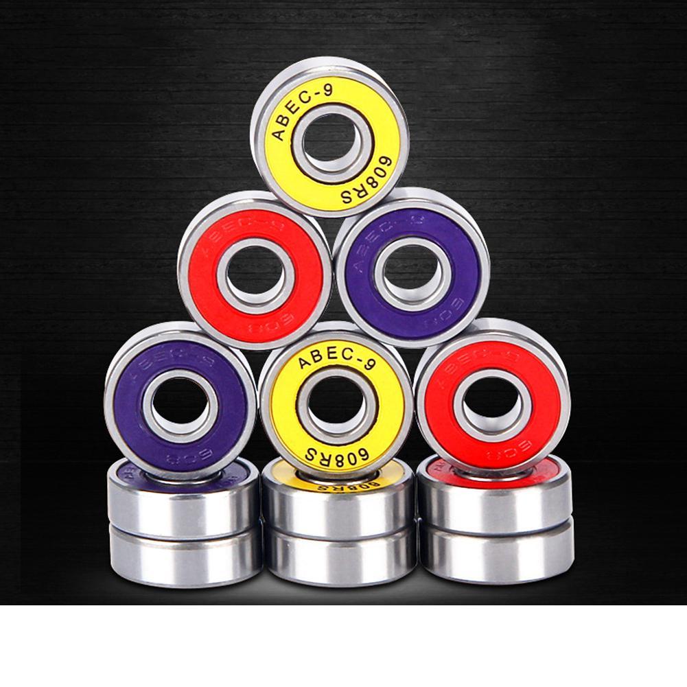 HobbyLane Precision 608RS ABEC9 ABEC7 608 Inline Roller Skate Wheel Bearing Anti rust Skateboard Wheel Bearing Red Sealed Shaft in Skate Board from Sports Entertainment
