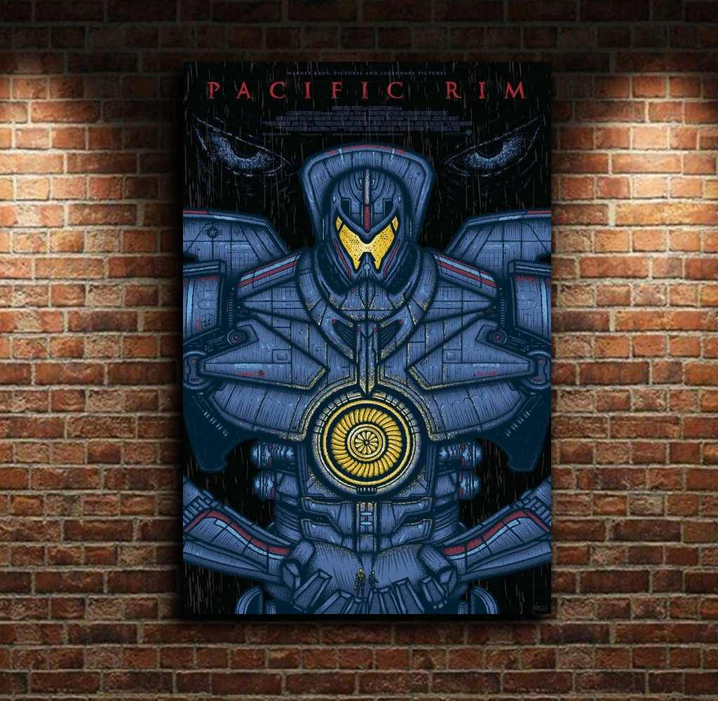 Pacific Rim The Giant Jager película alternativa lienzo Poster pared arte imprimir niños decoración hogar Decoración