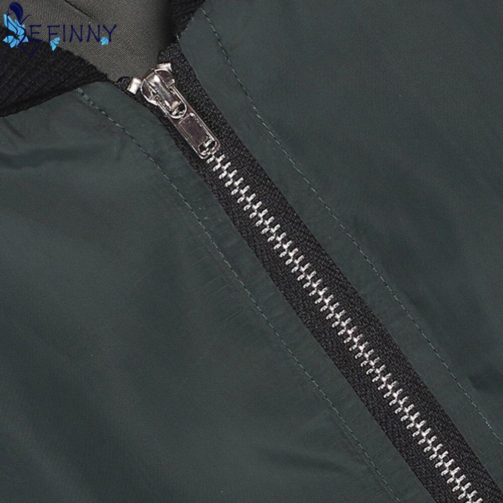 Abrigos viento Invierno 2018 Otoño Bomber Mujer mujer moda chaqueta XwxqZCqa