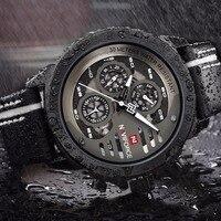 NAVIFORCE Montre Homme Sport Mens Watches Top Brand Luxury Watch Man Waterproof Hour Quartz Leather Men
