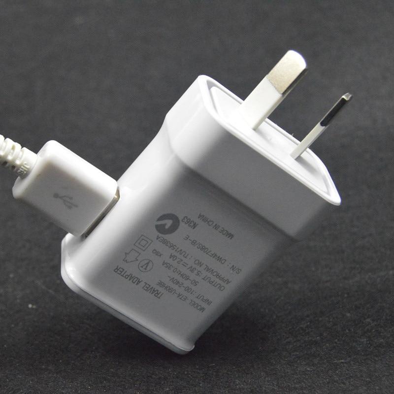 5 V 2A micro USB Sync Data kabel ponsel + Au plug Dinding Charger - Aksesori dan suku cadang ponsel - Foto 5