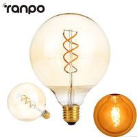 G125 Dimmable Edison Filament Led Bulb E27 AC 220V Spiral Light Amber Retro Saving Lamp Vntage