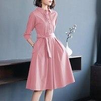 Модные розовые женские платья на завязках с бантом, женское платье, женские летние рубашки, элегантные платья, женская офисная одежда