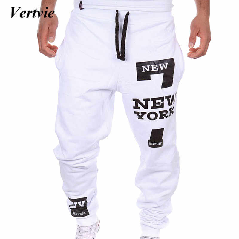 latest fashion order world-wide free shipping VERTVIE 2019 Thin Men Letter Print Sweatpants Joggers Male Calca Masculina  Hip Pop Casual Trousers Track Pants Clothes