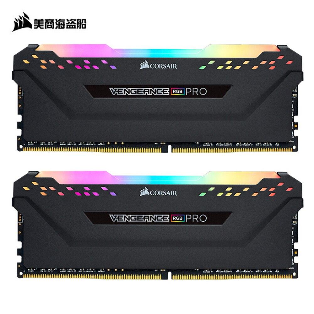 CORSAIR Vengeance DDR4 RGB PRO RAM 2 pièce 8 GB double canal 3000 MHz 3200 MHz 3600 MHz DIMM ordinateur de bureau de mémoire Support carte mère
