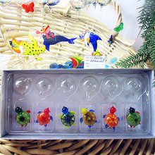 Manufacturers custom, hand blown glass handicraft aquarium float fish Mini cartoon art turtle sculpture decoration
