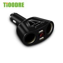 Электронный прикуриватель разветвитель двойной цилиндр двойной 3.1A двойной USB Автомобильное зарядное устройство с током вольтметр зарядное устройство