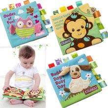 4 Stijl Baby Doek Boek Vroege Puzzel Onderwijs Speelgoed Engels Palm Boek Stereo Tear Niet Slecht 3D Dier Praktijk Cognitieve Baby Boek