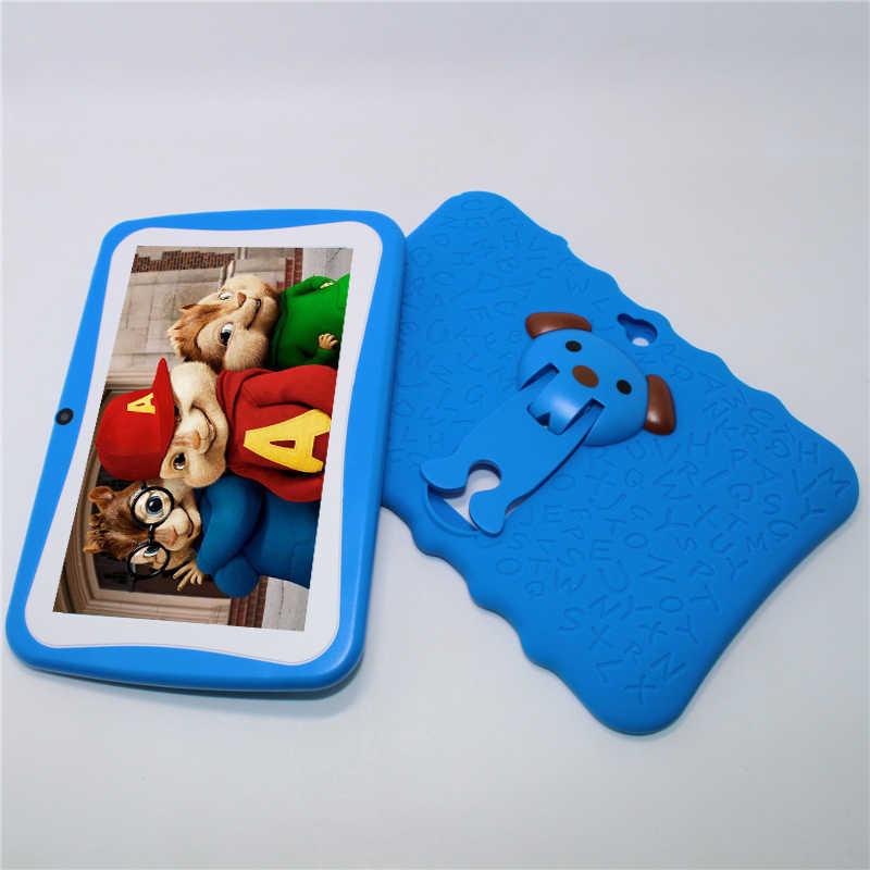 Glavey 7 polegada allwinner a33 q8 pro crianças tablet pc android 4.4 512 mb + 8g quad núcleo à prova de falhas presente colorido crianças comprimidos