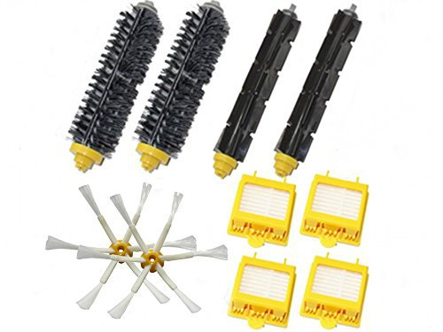 Bristle Brush Flexible Beater Brush Hepa Filters 6-Armed Side Brush Pack Kit For iRobot Roomba 700 Series 760 770 780 790 hepa filters bristle brush flexible beater brush 3 armed side brush pack set for irobot roomba 700 series 760 770 780 790
