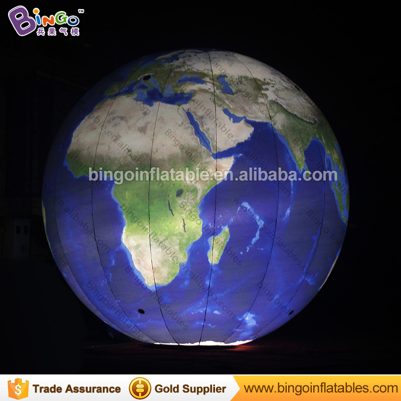 inflatable globe balloon, inflatable earth ball with led lighting for decoration/exhibition/events ao058h 2m helium balloon ball pvc helium balioon inflatable sphere sky balloon for sale