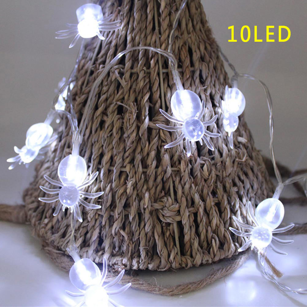 10 LED Spider Halloween Fairy String Light Lamp Battery ...
