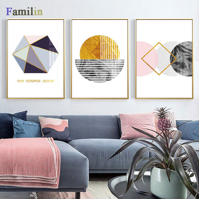 Geometric Marble Wall Art Canvas Kids Posters Prints Nordic Style Abstract Painting Minimalist Wall Pictures For Living Room Painting Calligraphy Aliexpress